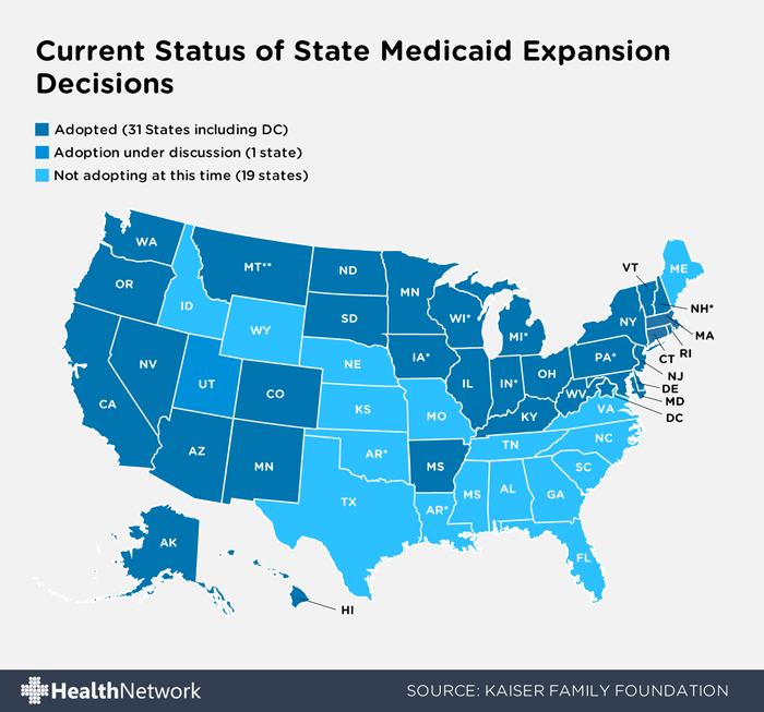 2015 Medicaid Expansion States Updated